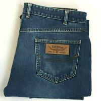 RM Williams Mens Blue Straight Leg Jeans TJ788 W36 L28