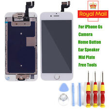 For iPhone 6s Full LCD Screen Replacement Assembly with Camera Home Button White