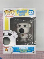 Funko POP! Animation: Family Guy - Brian #32 - Vaulted NOT MINT BOX K051