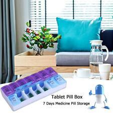14Grids Jewelry Weekly Pill Storage Box Medicine Tablet Dispenser Organizer Case