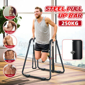 Dip Bar Pull Up Stand Chin-up Upper Body Fitness Station Workout Exerci M1