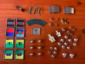 Australian Army  regalia including buttons badges patches Intelligence Corps