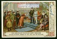 French King Charles IX c1900 Trade Ad Card