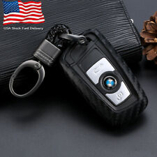 Carbon Fiber Look Car Key Case Cover Holder For BMW 3 5 Series Shipped From USA