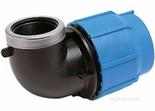 """50mm x 1 1/2"""" BSP female elbow for blue MDPE pipe. GF George Fischer Plasson"""