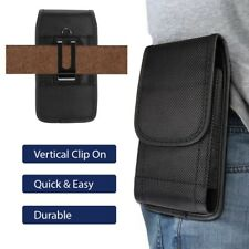 Vertical Cell Phone Pouch with Belt Clip Holster Black Choose Your Size