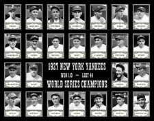 1927 Yankees Team  Photo 11X14   Ruth Gehrig Lazzeri New York Murderers' Row B&W