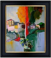Framed Quality Hand Painted Oil Painting Repro Untitled Landscape  20x24in