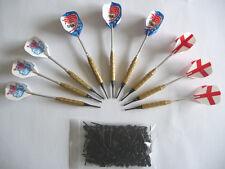 9 flechettes laiton darts à pointes plastiques + 100 pointes
