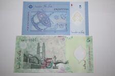 (PL) RM 5 EM + RM 1 ZA 2377701 UNC ZETI LAST & REPLACEMENT SAME FANCY NUMBER