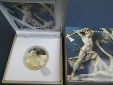 Rare 2011 Palau Proof Color Silver $2 Bible Cain/Abel-Box-mintage 1000