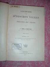 Schürer, Geschichte des jüdischen Volkes, 3. Bd., 1898