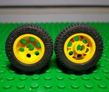 LEGO Part 2815 Black Technic Wedge Belt Wheel Pneu x 2 pièces