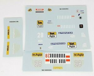DECAL 1/18 FERRARI Ferrari 412 T1 GERARD BERGER  Minichamps ORIGINAL MODEL 1994
