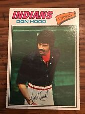 1977 Topps Don Hood Cleveland Indians 296