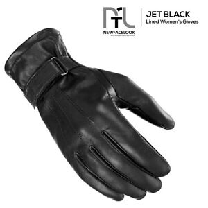 Ladies Woman's Winter Warm Genuine Leather Gloves Touch Screen Driving Gloves