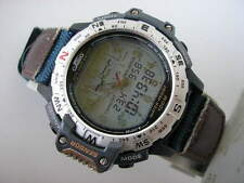 CASIO LCD / ANALOGUE RARE VINTAGE TWINCEPT PRO TREK WATCH PRT-50 OLD. 1997