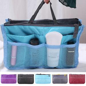 Women's Removable Large Handbag Organiser Insert Cosmetic Tidy Bag-in-Bag Travel