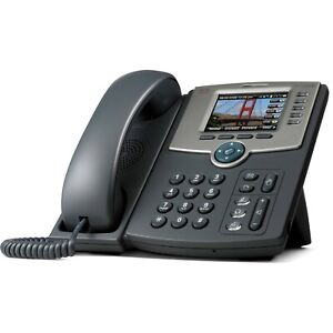 Unlocked Cisco SPA525G2 PoE IP phone with stand & receiver
