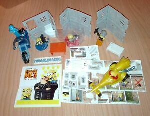 DESPICABLE ME 3 (MAXI) COMPLETE SET WITH ALL PAPERS KINDER SURPRISE 2017 MINIONS