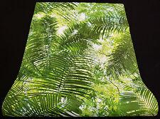 "42503-10) edle Vliestapete ""Collage"" Design Tapete grün weiss Palmenblätter"