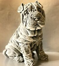 Sharpay Hunde Figur aus Russland Figur Shar Pei aus Marmorstaub qualitativ