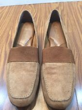 Easy Street 5th Avenue Plush Womens Brown Suede SZ 9.5M Loafers Flats Mocs Shoes