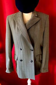 Superbe Veste Burberrys 92% laine grise à chevrons Taille 40