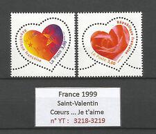 FRANCE 1999...HEARTS...Saint-Valentin...2 STAMPS...MNH **