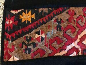 Vintage Hand Woven Wool Blanket Rug Tapestry 90x39 Unknown Origin