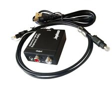 With Fiber Cable Digital Optical to Analog RCA L/R 3.5mm Audio Converter Adapter