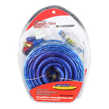 New listing Audiopipe Isk2500P Pipeman 4 Gauge Amp Kit Blue/silver Wire Afc Fuse