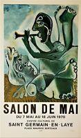 "PICASSO Original Lithograph SALON DE MAI 1970 Limited Edition ""11/200"" Mourlot"