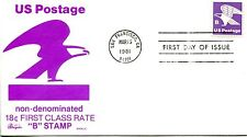 1981 REGULAR ISSUE RATE CHANGE B SHEET STAMP BAZAAR CACHET UNADDRESSED FDC