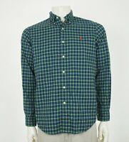 Polo Ralph Lauren RL Green Plaid Cotton Button Shirt Mens Medium