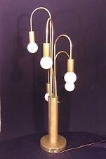 MID CENTURY MODERN 5 ARM WEEPING WILLOW WATERFALL BRASS LAMP