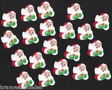 20 alte Weihnachtsmann / Nikolaus Köpfe Papier Oblaten gummiert - DIE CUT SCRAPS