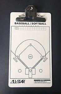 Baseball Softball Team Roster Line Up Clip Board Dry Erase Coach 2 Sided AllStar