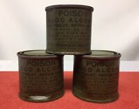 ORIGINAL WW2 / FUEL TABLETS / CANISTERS / C RATION / SET OF 3 / MEAL HEATING