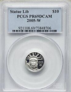 2005-W $10 Tenth-Ounce Platinum PR69 Deep Cameo PCGS