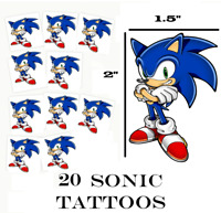 20 Sonic the Hedgehog birthday party favors tattoos supplies decorations