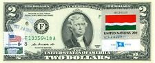 $2 DOLLARS 2013 STAMP CANCEL FLAG OF UN FROM SEYCHELLES LUCKY MONEY  $99.95