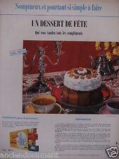 PUBLICITÉ 1958 BISCUITS THÉ BRUN UN DESSERT DE FÊTE SANS CUISSON - ADVERTISING