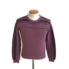 Vintage Meister Pat's Wool Unisex Purple Nordic Alpine Ski Sweater Hong Kong M