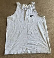 Men's Vintage Nike Heather Gray Activewear Tank Top Shirt Size Medium Euc