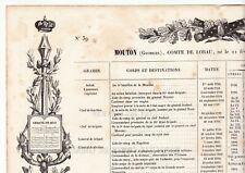 États des Services Maréchal Georges Mouton Comte de Lobau Napoléon Bonaparte