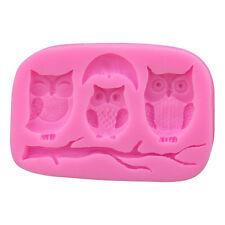 3D Owl Silicone Fondant Mold Cake Decor Candy Chocolate Baking Sugarcraft Mould