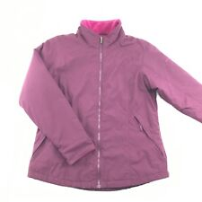 Columbia Womens Purple Nylon Full Zip Fleece Lined Jacket L