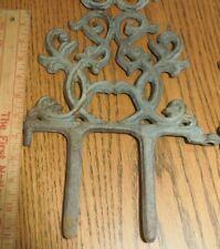 Antique Cast Iron Ornate Scroll Garden Edge 9 Pieces Nice! L@K!