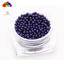 New 1000 pcs Glass Navy Micro Beads small No Hole 1.5-2mm Nail Art Caviar